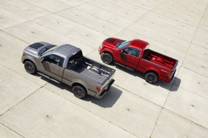 2014 F-150 Tremor Red and Silver Side by Side