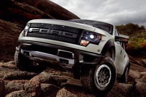2013 Ford F-150 Raptor in the rocks
