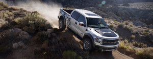 Downhill offroading in an SVT Raptor F-150