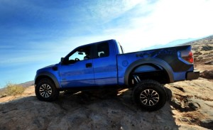 SVT Raptor showing off its rock crawling abilities