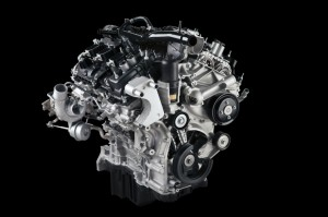 The 2.7 liter V6 EcoBoost twin turbo