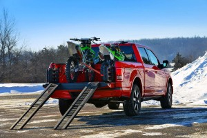 2015 F150 with two motorcycles loaded up