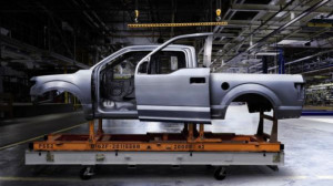 2015 Ford F-150 aluminum body and frame