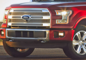 2015 F-150 EcoBoost Red with Chrome grill