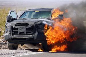 2016 Ford F-Series Super Duty Test Mule Catches Fire, Reveals Aluminum Body