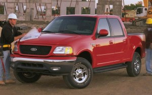 2001 Ford F-150 SuperCab at Construction Site
